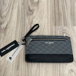 Karl Lagerfeld Leather Wallet. Brand new. Gray